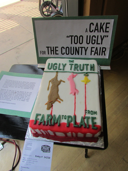 2015VegFest- Ugly Truth Cake